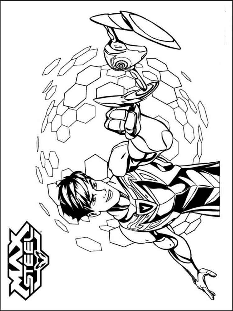 750x1000 Max Steel Coloring Pages Download And Print Max Steel Coloring Pages