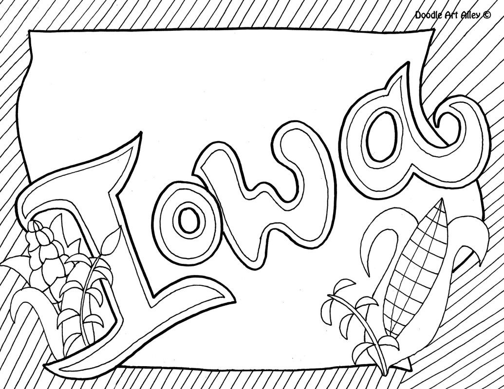 1035x799 Iowa Coloring Page