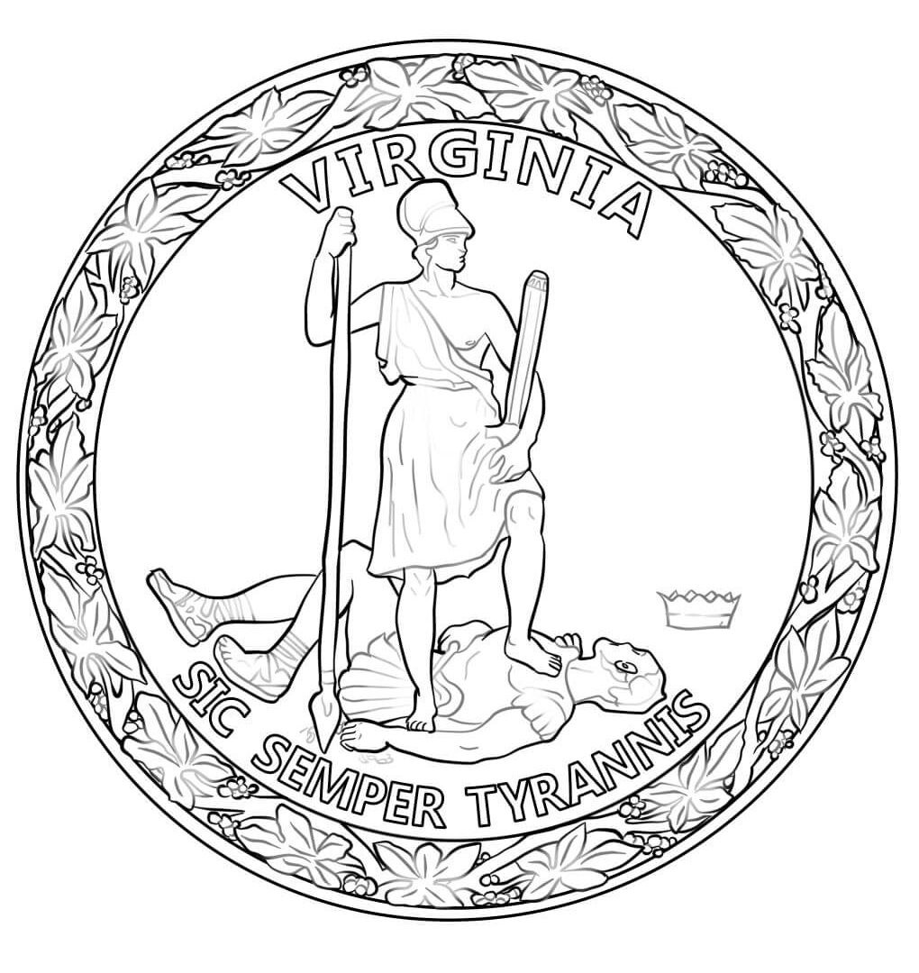 1020x1080 Love Nevada State Seal Coloring Page Iowa Free Printable Pages