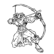 230x230 Top Hawkeye Coloring Pages For Toddlers