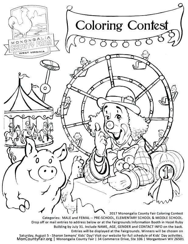 618x800 Fair Coloring Pages County Fair Coloring Pages Farm Animal