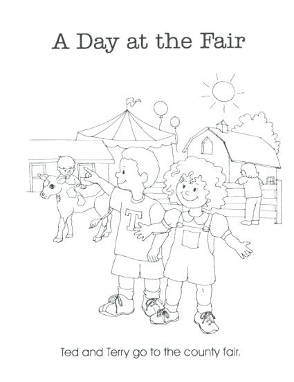 425x552 Fair Coloring Pages County Fair Coloring Pages Free Printable