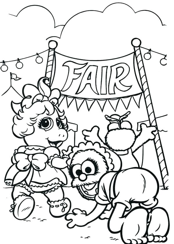 600x842 Fair Coloring Pages Download State Fair Coloring Pages