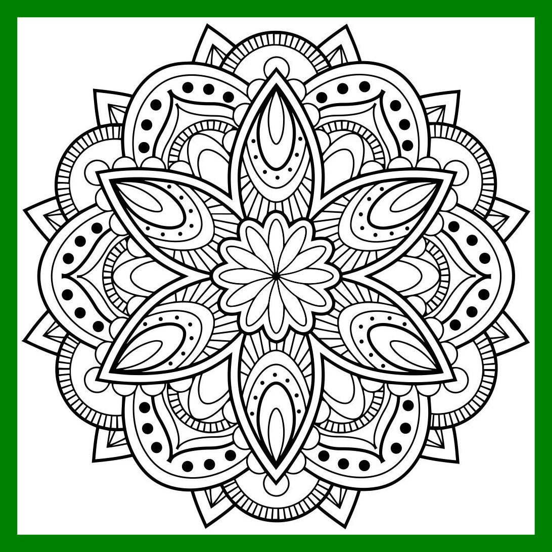 1092x1092 Incredible Mandala Coloring Pages For Adultsroid Ios