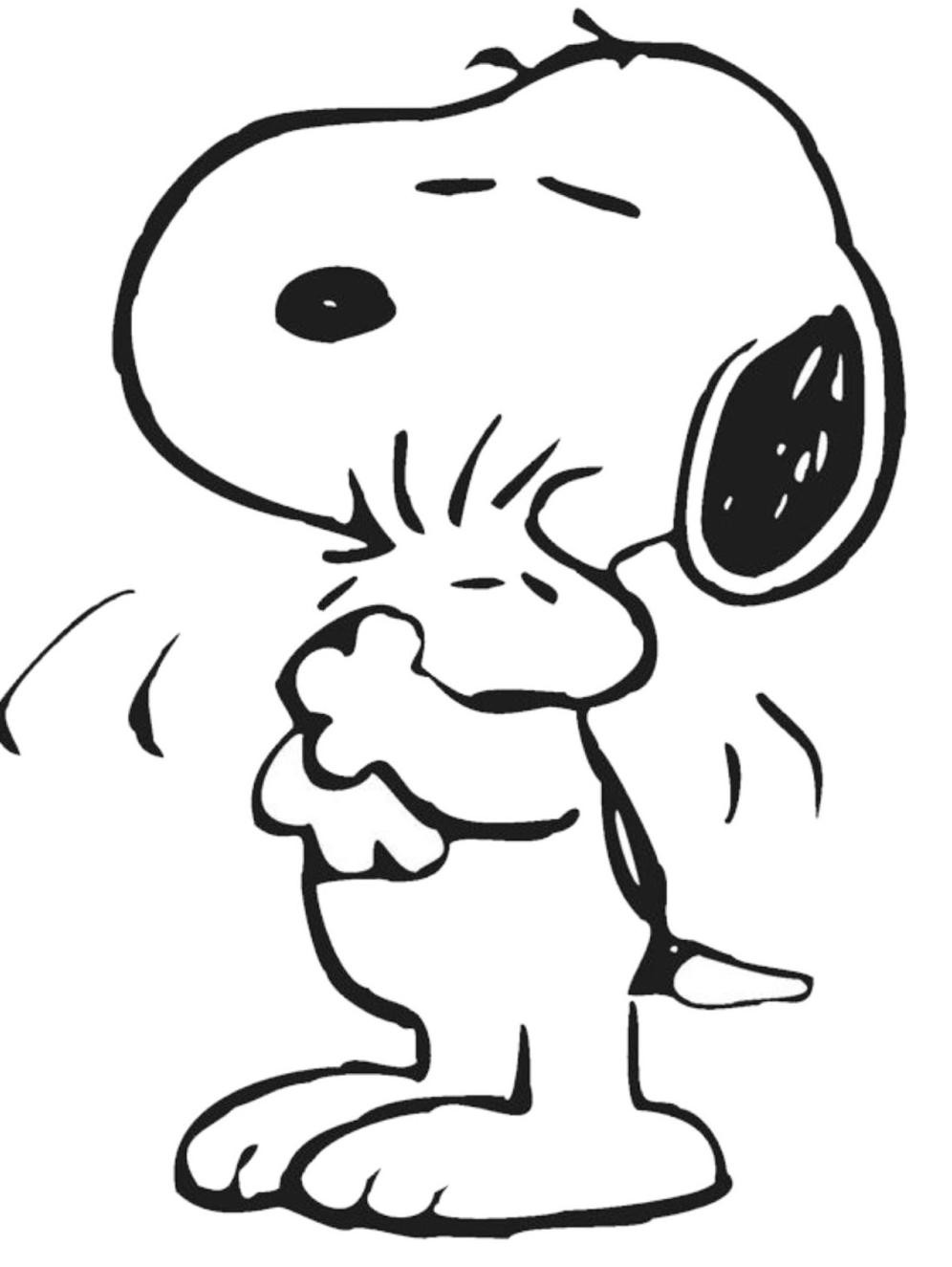 996x1325 Snoopy Coloring Page With Wallpapers Hd For Iphone Simple Snoppy