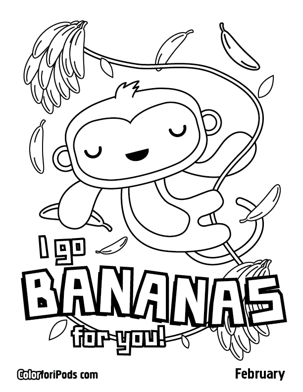 612x792 February Color For Ipods Coloring Pages