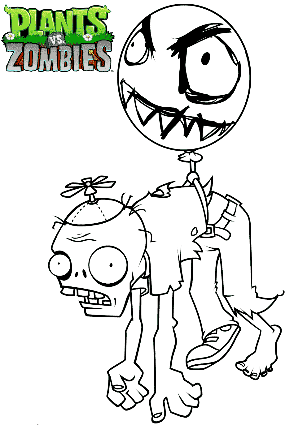 949x1374 Free Printable Plants Vs Zombies Coloring Pages