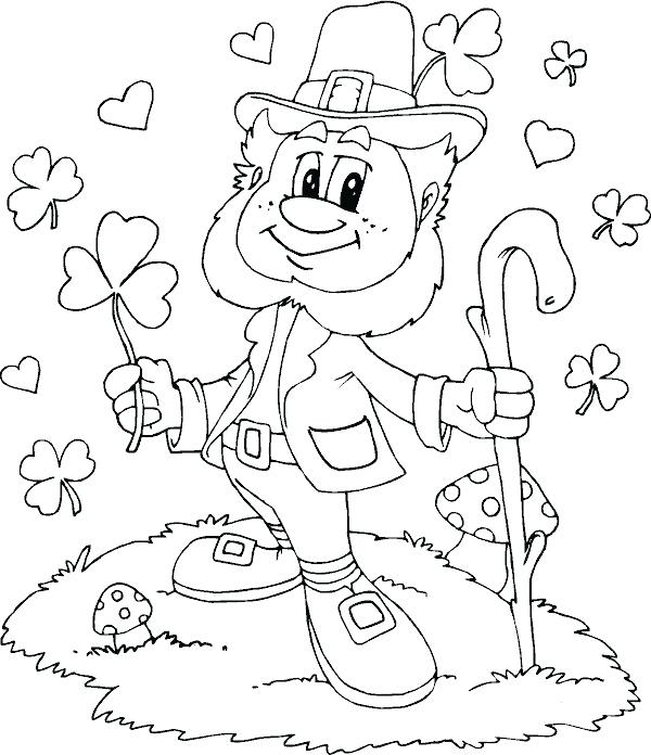 600x696 Irish Coloring Pages Irish Flag Colouring Pages