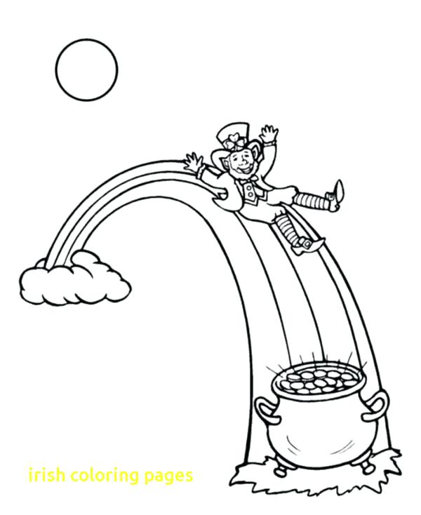 600x734 Ireland Coloring Pages Flag Coloring Page Flag Coloring Page Flag