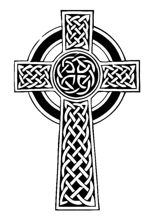 600x847 Irish Celtic Cross Coloring Pages Best Place To Color