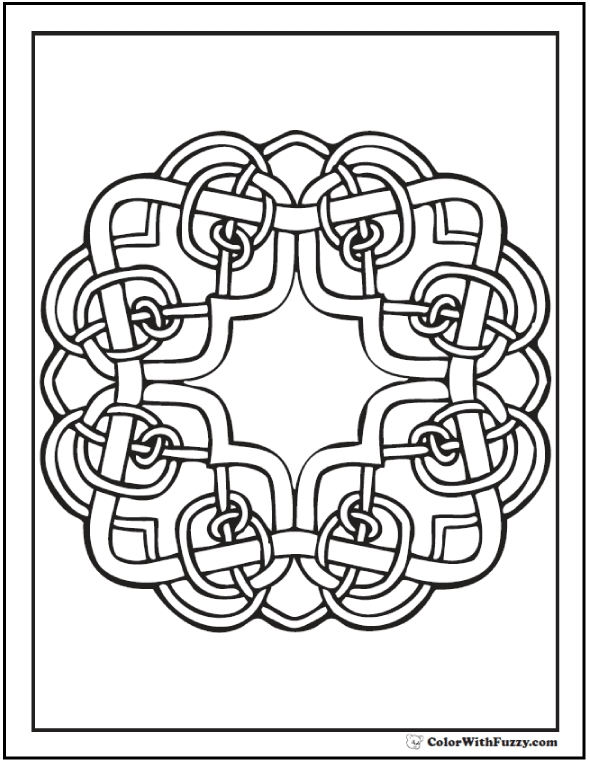 590x762 Irish Coloring Pages For Adults Celtic Coloring Pages Irish