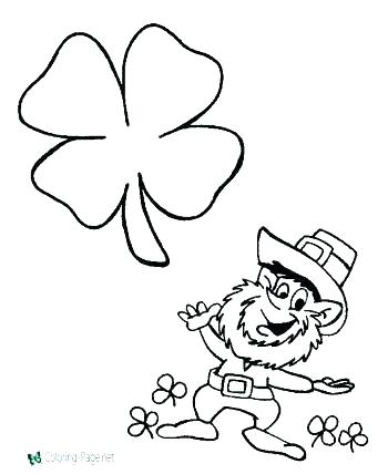 350x428 Leprechaun Color Pages Free Coloring Pages Shamrock Coloring Page