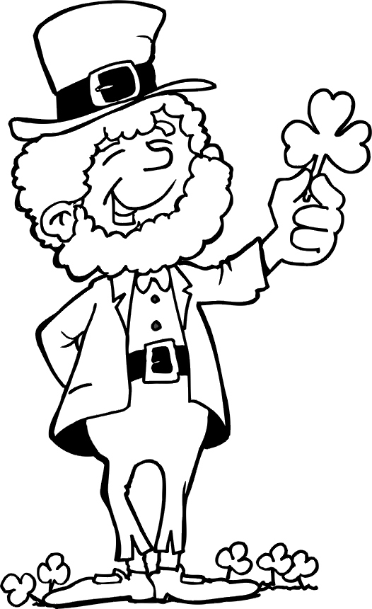 526x860 Leprechaun Coloring Pages To Print Awesome Leprechaun Coloring