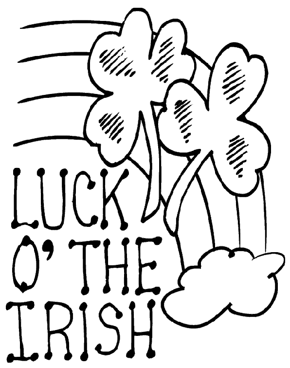 596x756 Luck Of The Irish Coloring Page Coloring Book