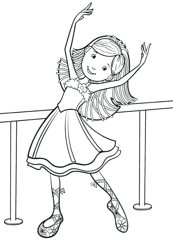 555x778 Dancers Coloring Pages Dancing Pictures To Colour Girl Dance