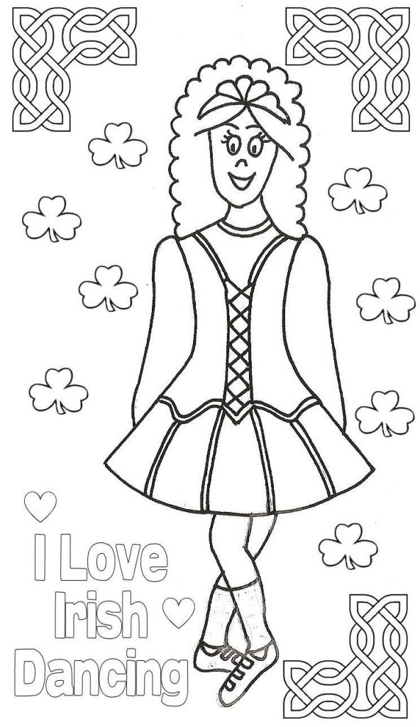 592x1024 Irish Dance Coloring Pages