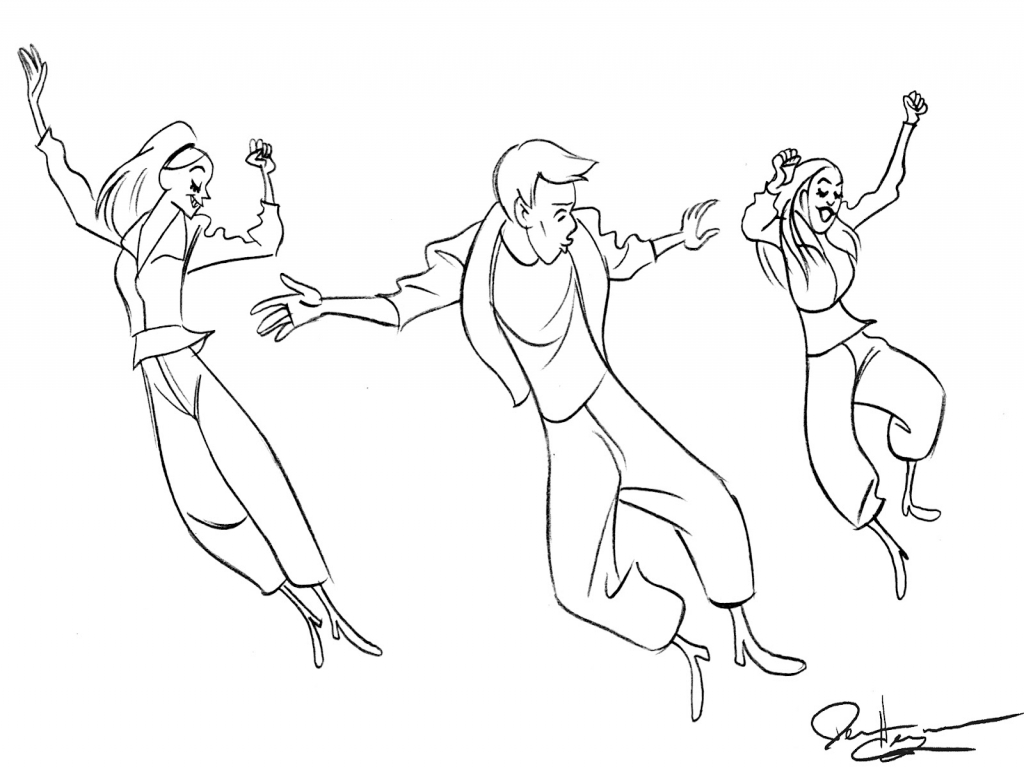 1024x768 Jazz Dance Coloring Sheets Pages Irish