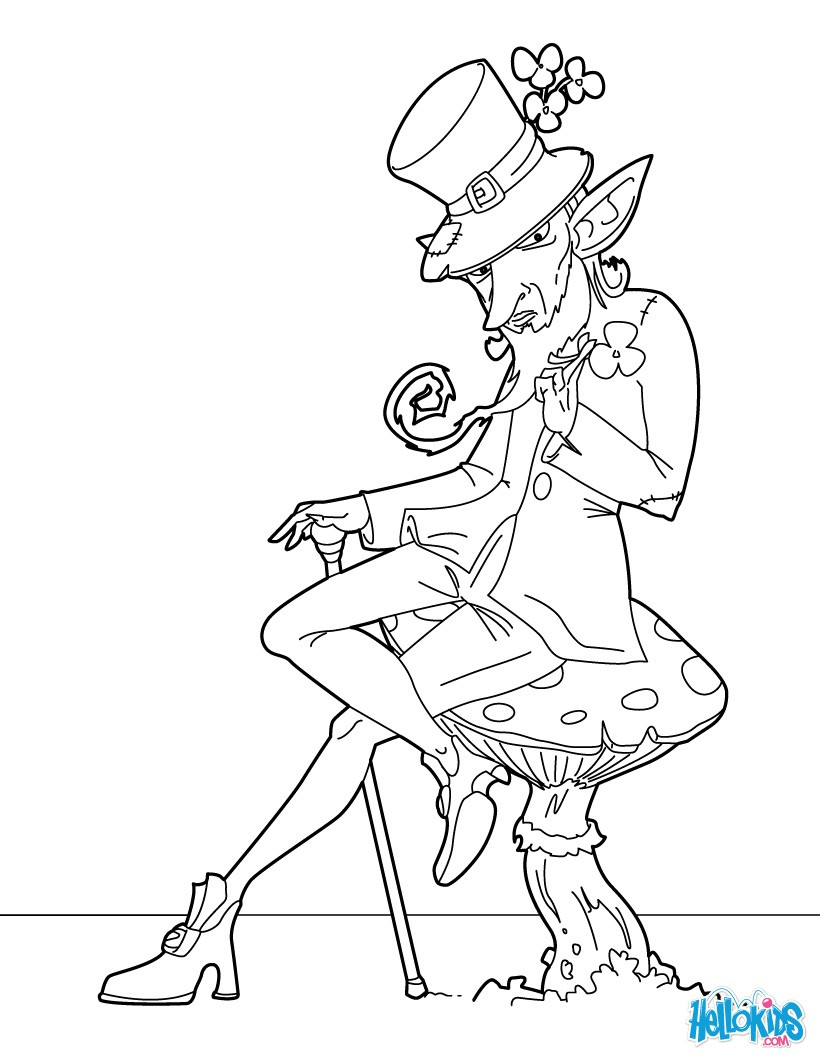 820x1060 Click The Coat Of Arms Coloring Pages Leprechaun Dltk Irish