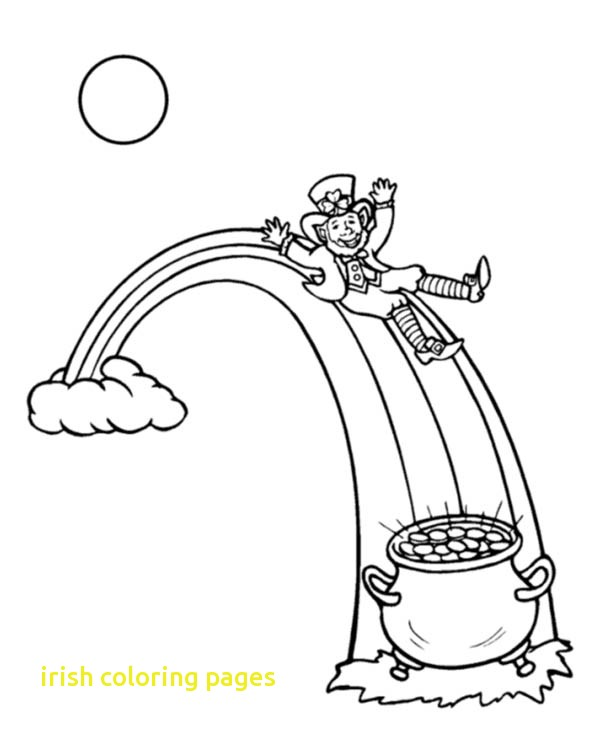 600x734 Irish Coloring Pages