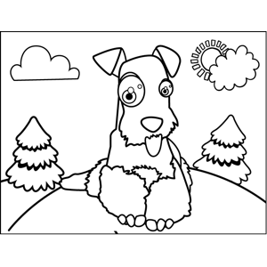 300x300 Irish Setter Coloring Page