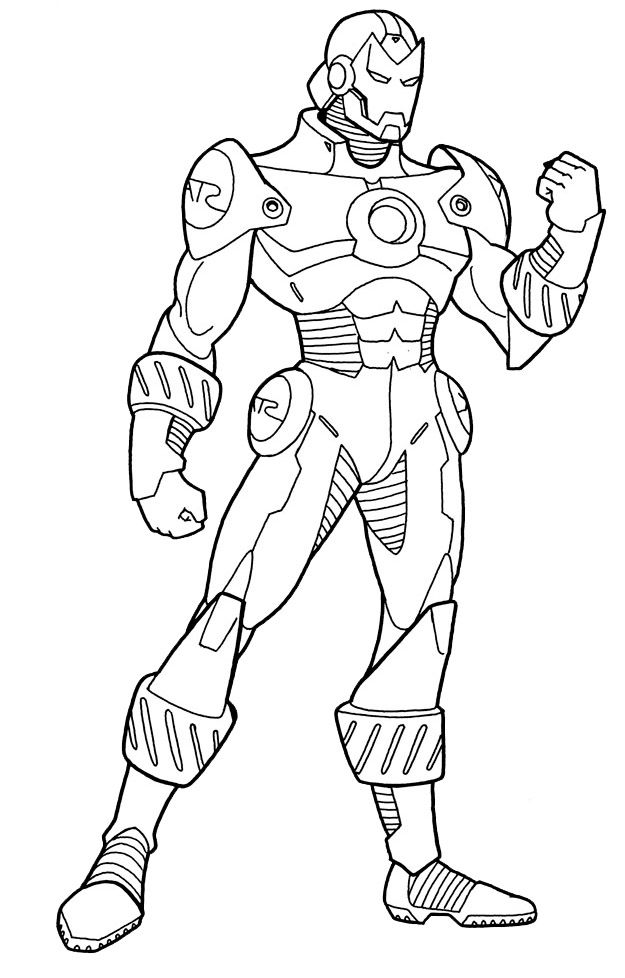 625x978 Iron Man Coloring Pages