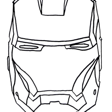 360x360 Iron Man Mask Coloring Pages