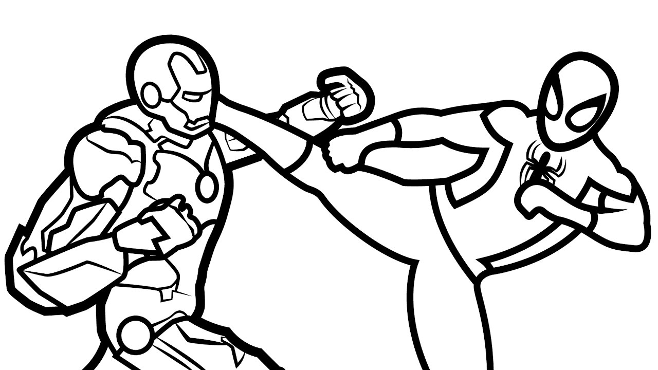 1280x720 Unique Iron Man Coloring Pages For Picture Coloring Page