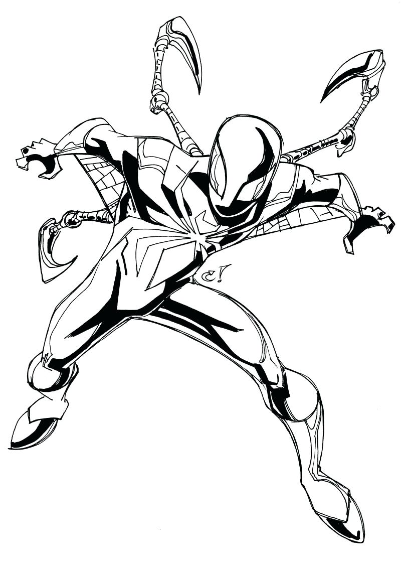 800x1138 Coloring Pages Spider Coloring Pages Iron Captain Man To Print