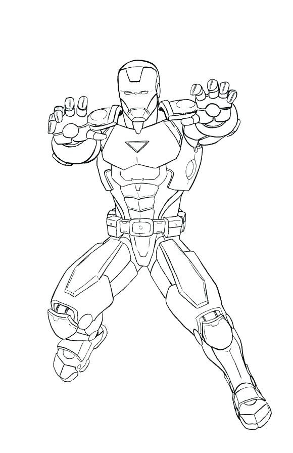 580x896 Iron Man Coloring Pages For Kids Professional