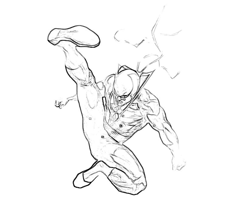 800x667 Marvel Vs Capcom Iron Fist Coloring Yumiko Fujiwara