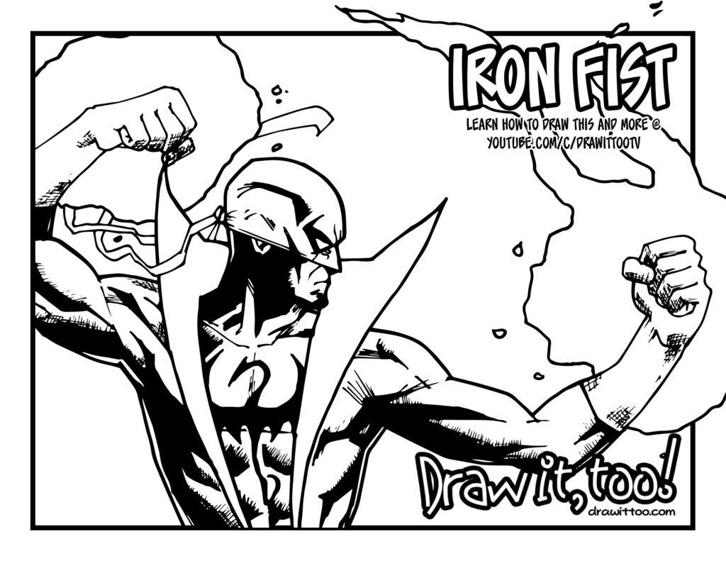 1024x791 The Immortal Iron Fist! Draw It, Too!