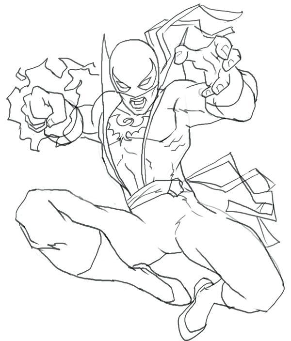 600x704 Coloriage Super Hero Gambit