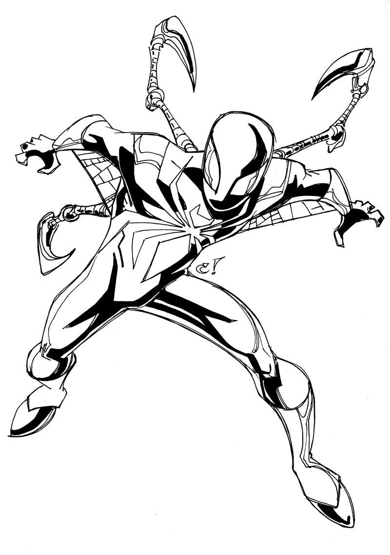 800x1138 Images And Information Ultimate Spiderman Iron Fist Coloring