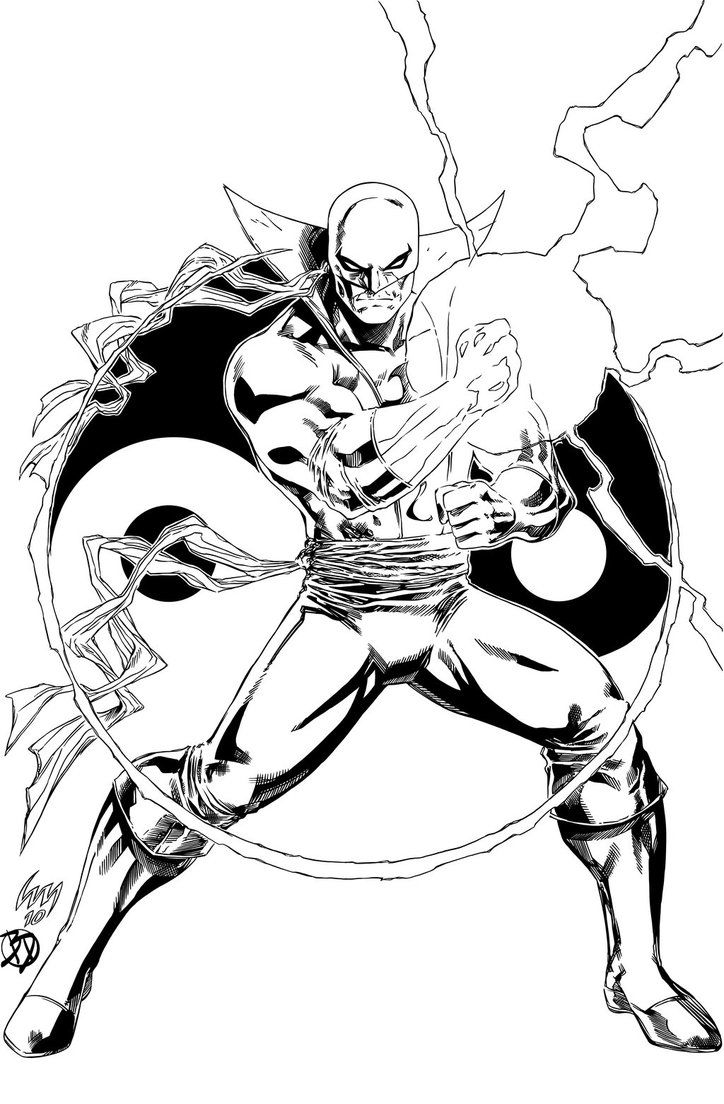 724x1104 Best Lineart Iron Fist Images On Iron, Irons