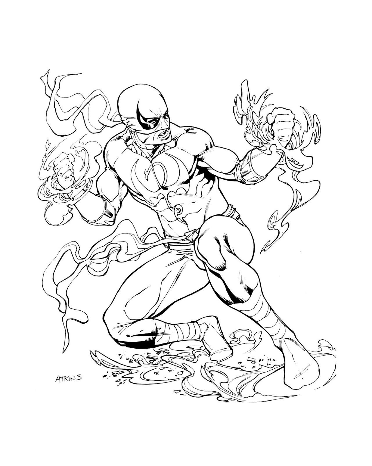 1280x1600 Avengers April Iron Fist Robert Atkins Art