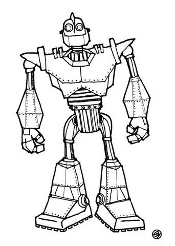 342x480 Iron Giant Coloring Pages