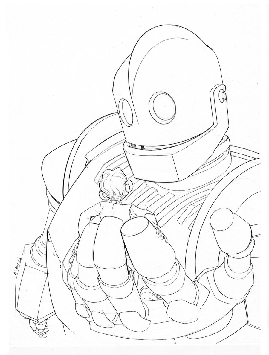900x1186 Iron Giant Coloring Pages