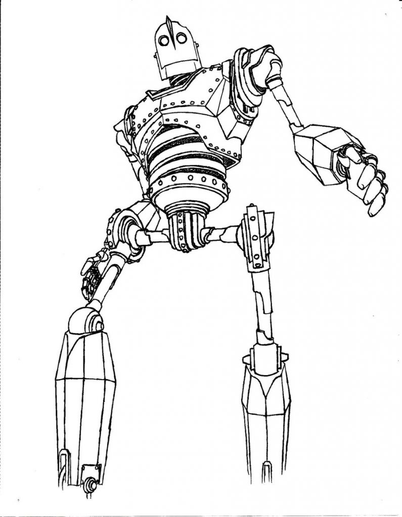 795x1024 Printable Iron Giant Coloring Pages Free For Print