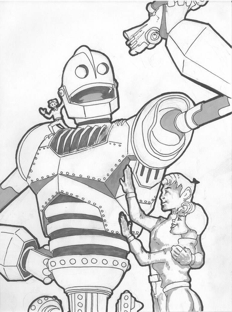 772x1035 The Iron Giant Coloring Pages