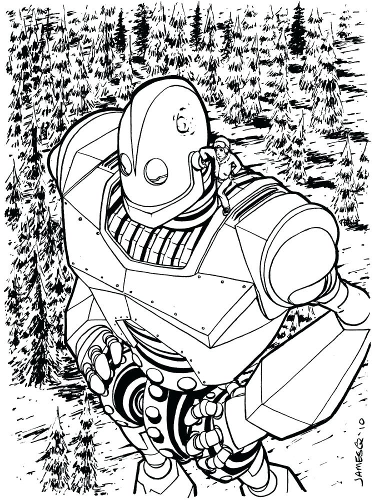 750x1000 Iron Giant Coloring Pages