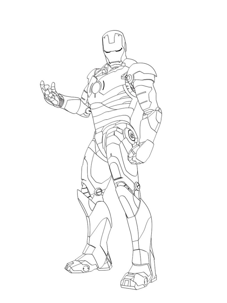 767x1024 Iron Man Coloring Pages Ironman Iron And Coloring