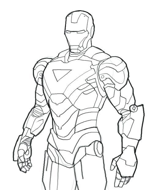 500x619 Coloring Iron Man Colouring Also Iron Man Coloring Medium Size
