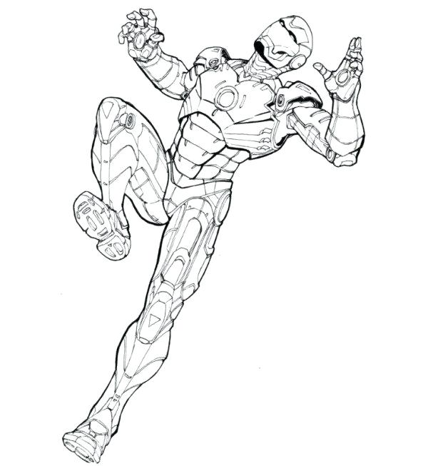 600x653 Ironman Coloring Pages Iron Man Coloring Pages For Kids Free