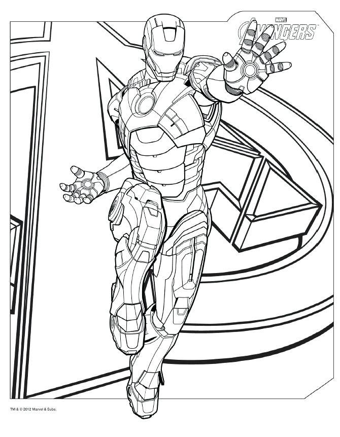 670x861 Iron Man Coloring Pages For Kids Professional