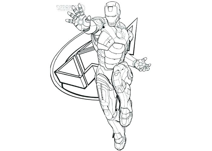 700x500 Iron Man Coloring Pages Cartoon Page Avengers Free Pictures