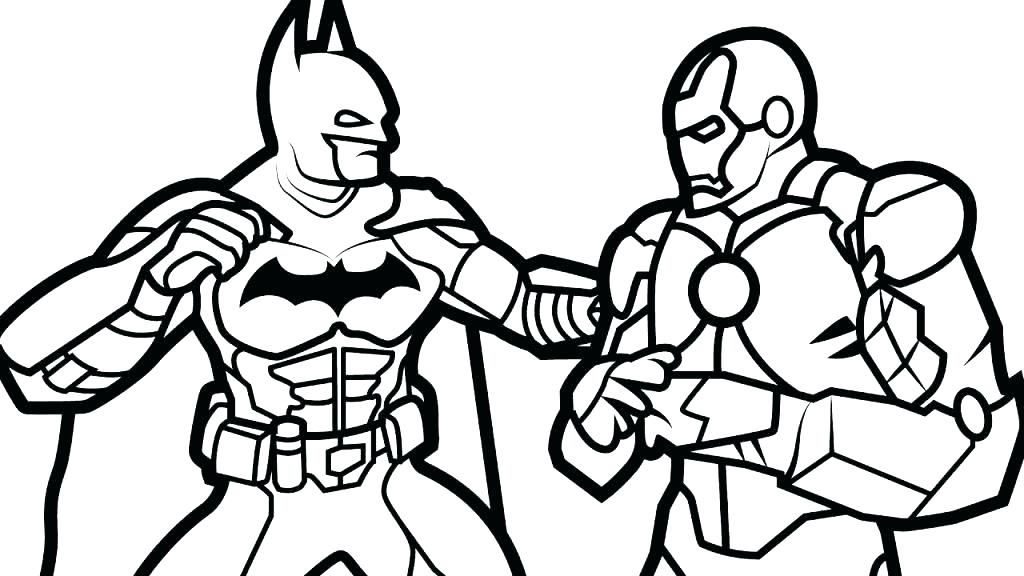 Iron Man Cartoon Coloring Pages