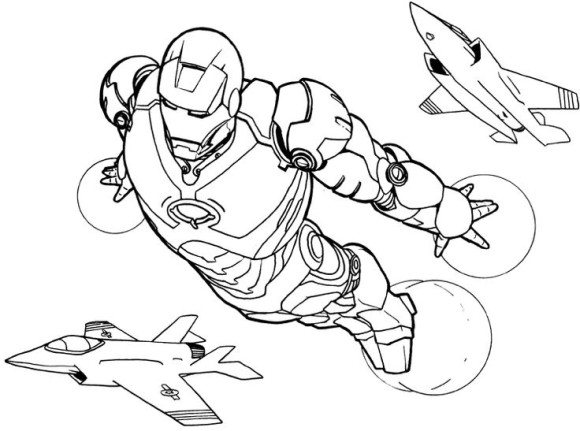 580x431 Iron Man Cartoon Coloring Pages Free Coloring Pages Iron Man Iron