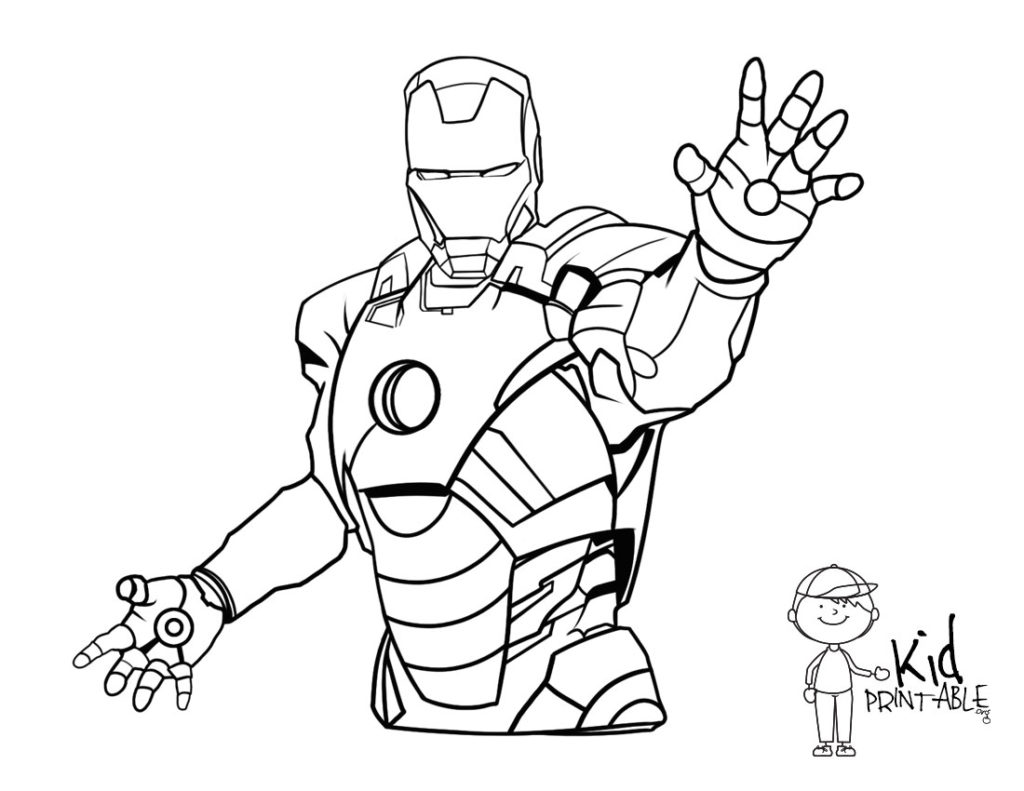 1024x791 Ironman Coloring Pages Finest Iron Man Landscape