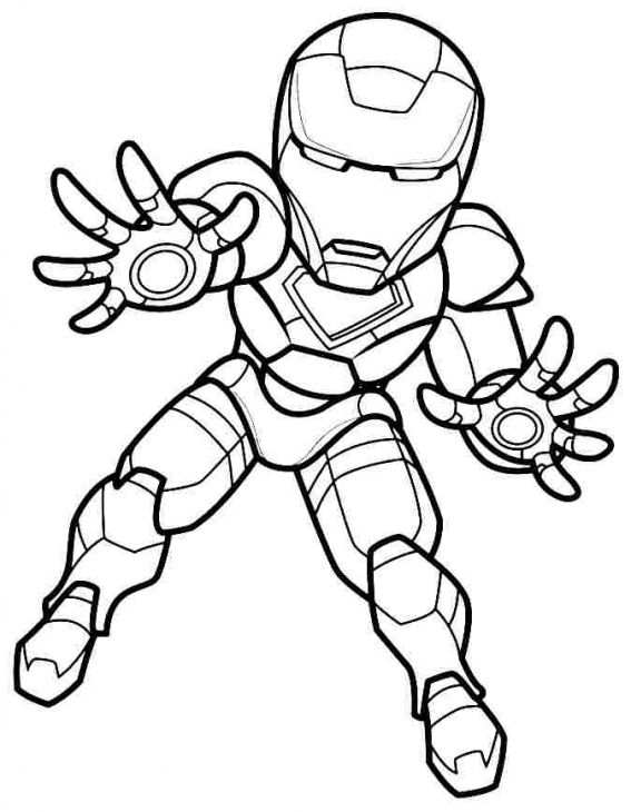 567x730 Mini Super Hero Squad Iron Man Coloring Page Superheroes
