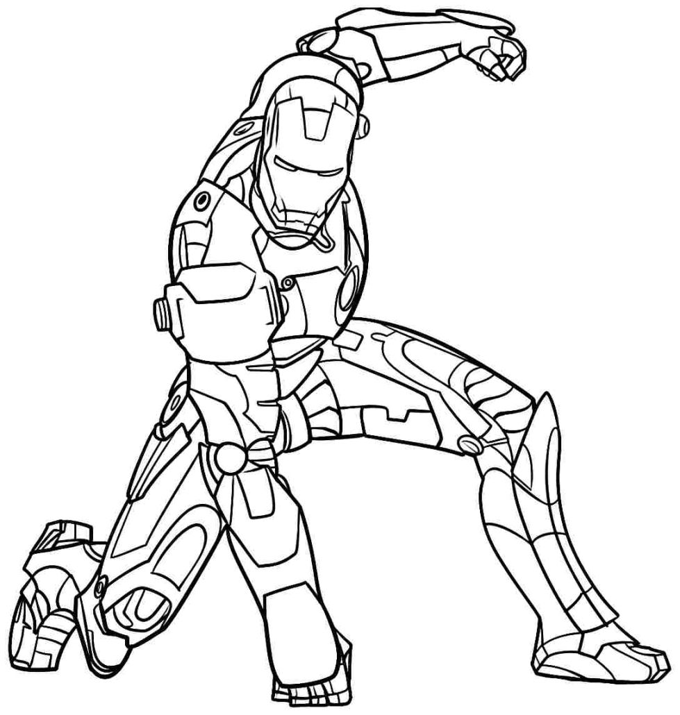 979x1030 Beautiful Ironman Coloring Pages To Print For Iron Man Coloring